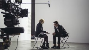 Opening scenes: Elizabeth Moss & Claes Bang as Anne & Christian