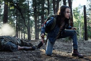 Laura, played by Dafne Keen