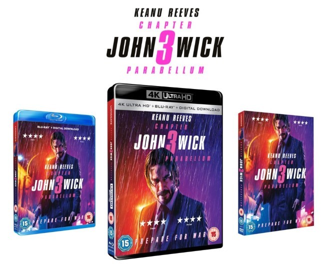 John Wick: Chapter 3 - Parabellum - Digital Download Blu-ray DVD Steelbook review