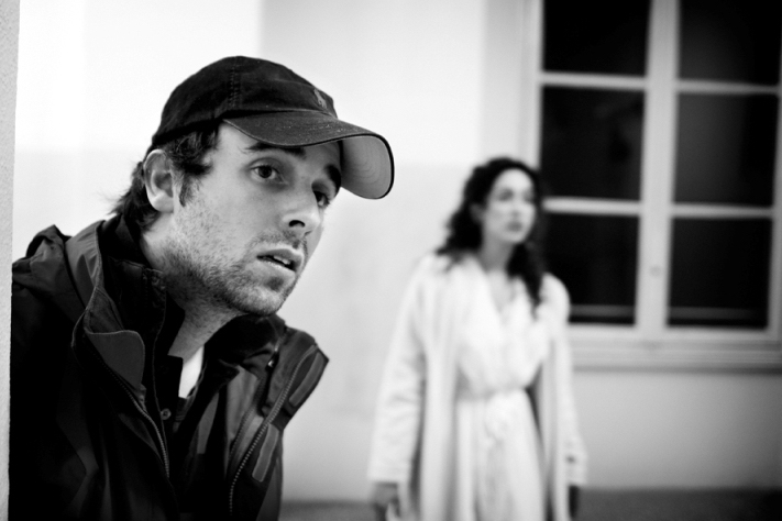 Matteo Bernardini & Oona Chaplin on set of Vampyre Compendium - Photography by Federico Torres