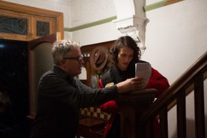 Director Christopher Smith with Jessica Brown Findlay - The Banishing