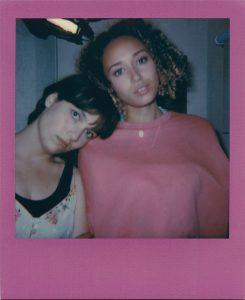 AJ (Nell Barlow) Isla (Ella-Rae Smith) Copyright OverACliffLtd_Polaroid_ both1